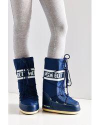 Tecnica | Blue Nylon Moon Boot | Lyst