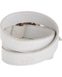 Hoorsenbuhs - White Leather Wrap Bracelet - Lyst