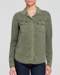 Splendid - Green Shirt - Tencel® Lyocell - Lyst