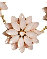 H&M | Pink Necklace With Floral Pendants | Lyst