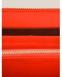 Stella McCartney | Pink Contrasting Panel Wallet | Lyst