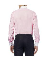 Turnbull & Asser - Pink Slimfit Contrastcollar Cotton Shirt for Men - Lyst