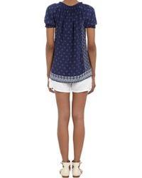 Joie - White Linen Drawstring Waist Shorts - Lyst