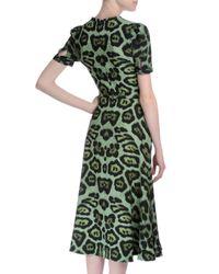 Givenchy - Green Short-sleeve Jaguar-print Dress - Lyst