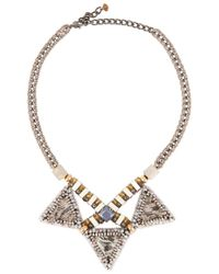 Nocturne | Metallic Lisha Crystal-Embellished Necklace | Lyst