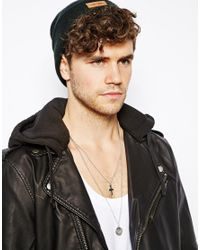 ASOS - Metallic Necklace with Coin Cross for Men - Lyst