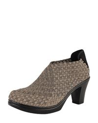 Bernie Mev - Metallic Chesca Woven Ankle Boots - Lyst