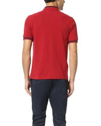 Fred Perry - Red Single Tipped Shirt for Men - Lyst
