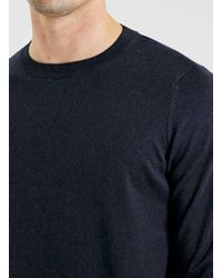 TOPMAN - Blue Navy Twist Essential Crew Neck Jumper for Men - Lyst