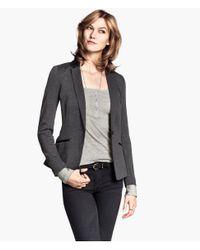 H&M - Gray Jersey Jacket - Lyst