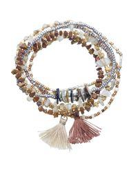 John Lewis - Multicolor Bead And Tassel Stretch Bracelet - Lyst