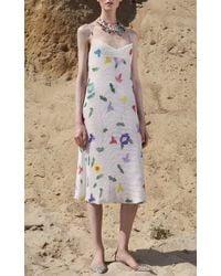Cynthia Rowley - White Beaded Slip Dress - Lyst