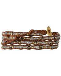 Chan Luu | Brown 32' Mystic Labradorite Crystal Wrap Bracelet | Lyst