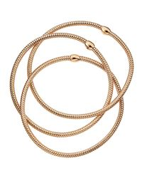 Roberto Coin | Pink 18k Rose Gold Primavera Triple Row Mesh Bangle | Lyst