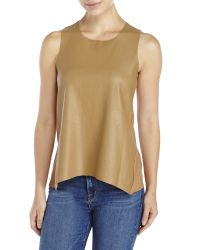 Olivaceous - Brown Faux Leather Front Shell - Lyst