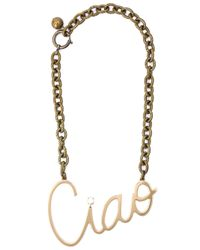 Lanvin - Metallic Swarovski Crystal Embellished Chain Necklace - Lyst