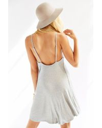 Silence + Noise - Gray Silence Noise Eliza Ribbed Highlow Tank Dress - Lyst