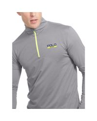 Ralph Lauren - Gray Stretch Jersey Pullover for Men - Lyst