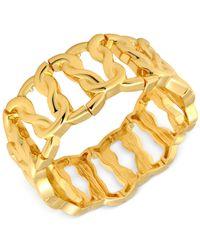 T Tahari - Metallic Link Stretch Bracelet - Lyst