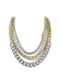 Dyrberg/Kern | Metallic Deane Metal Necklace | Lyst