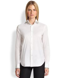 Ralph Lauren Black Label - White Beaded Rachel Shirt - Lyst
