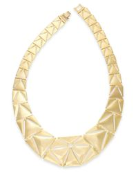 Lauren by Ralph Lauren | Metallic Gold-Tone Graduated Triangle Collar Necklace | Lyst