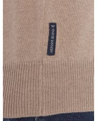Armani Jeans | Natural Crew Neck Logo Jumper for Men | Lyst