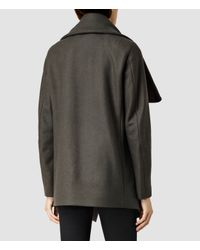 AllSaints - Natural Jax Jacket - Lyst