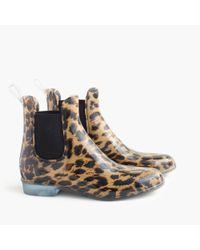 J.Crew - Multicolor Chelsea Leopard Rain Boots - Lyst