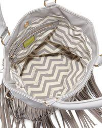 Deux Lux - Gray Fringe Tote Bag - Lyst