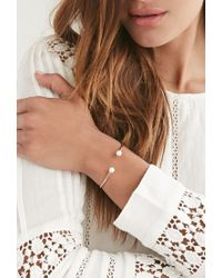 Forever 21 - Metallic Moon And Lola Faux Pearl Cuff - Lyst