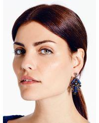 Kate Spade | Blue Madison Ave. Empress Gems Chandelier Earrings | Lyst