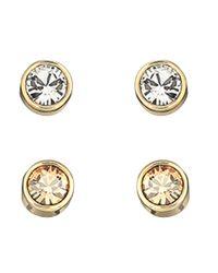Swarovski - Metallic Harley Goldtone Crystal Stud Earrings - Lyst