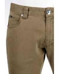 Armani - Green 5 Pocket Trousers In Cotton Twill for Men - Lyst