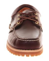 Timberland | Brown Cleated Boat Shoe for Men | Lyst