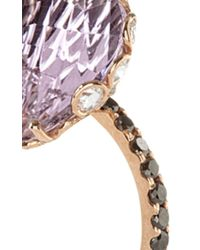 Lito | Metallic One Of A Kind 18K Rose Gold Ring With Pink Amethyst | Lyst