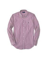 Polo Ralph Lauren - Red Slim-fit Poplin Sport Shirt for Men - Lyst