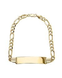 Lord & Taylor | Metallic 14k Yellow Gold Mens Link Bracelet | Lyst