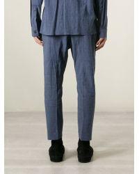 Haider Ackermann | Blue Anthurium Trouser for Men | Lyst