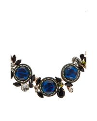 Marni | Black And Blue Chunky Crystal Necklace | Lyst