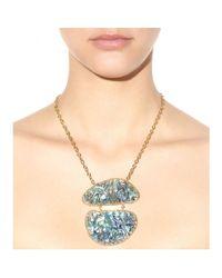 Isharya Blue Abalone Goldplated Necklace