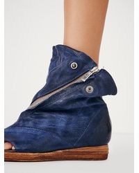 Free People - Blue Verona Slouch Boot - Lyst
