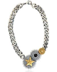 Iosselliani - Metallic Full Metal Jewels Necklace - Lyst