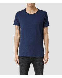 AllSaints | Green Warn Crew T-shirt for Men | Lyst