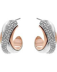 Swarovski | Pink Wave Pierced Earrings | Lyst