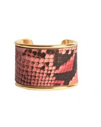 "Rachael Ruddick | Pink 2"" Leather Inlay Cuff 