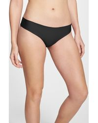 Halogen | Black 'no Show' Thong | Lyst