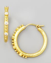 Elizabeth Locke | Metallic Giant Diamond 19k Gold Hoop Earrings | Lyst