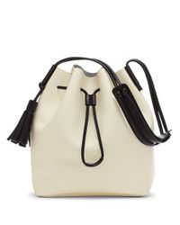 Vince Camuto - White Lorin Leather Bucket Bag - Lyst