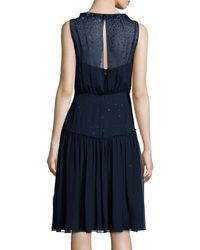 Jenny Packham - Blue Degrade Crystal Sleeveless Smock Dress - Lyst